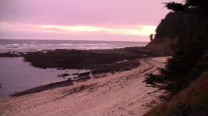 Sunset from Seal Cove Beach